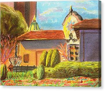 Plaza View From Canal Canvas Print by Darya Tyshlek