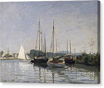 Pleasure Boats Argenteuil Canvas Print by Claude Monet