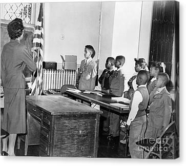 Pledge Of Allegiance, 1958 Canvas Print by Granger