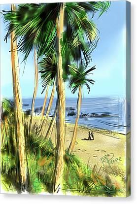 Plein Air Painter Canvas Print by Russell Pierce