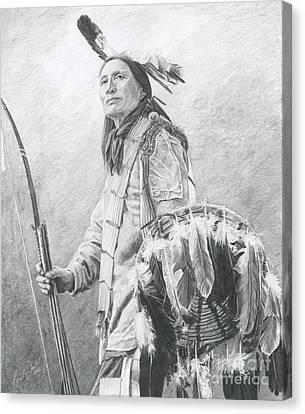 Taopi Ota - Lakota Sioux Canvas Print by Brandy Woods