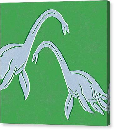 Plesiosaurus Canvas Print by Linda Woods
