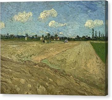 Ploughed Fields Canvas Print by Vincent van Gogh