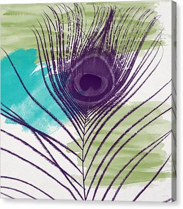 Plumage 2-art By Linda Woods Canvas Print by Linda Woods