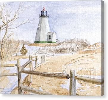 Plymouth Light In Winter Canvas Print by Dominic White
