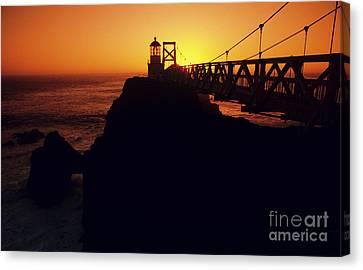 Point Bonita Lighthouse Canvas Print by Brent Black - Printscapes