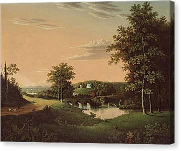 Point Breeze  The Estate Of Napoleon Canvas Print by Charles B Lawrence