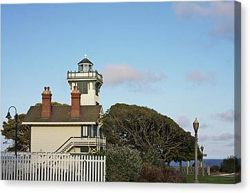 Point Fermin Light - An Elegant Victorian Style Lighthouse In Ca Canvas Print by Christine Till