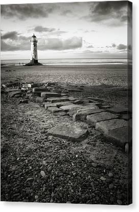 Point Of Ayre Lighthouse Canvas Print by Jon Baxter