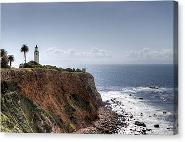 Point Vicente Lighthouse In Winter Canvas Print by Heidi Smith