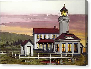 Point Wilson Light After Rain Canvas Print by James Lyman