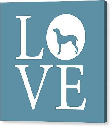 Pointer Love Canvas Print by Nancy Ingersoll