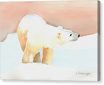 Polar Bear Canvas Print by Arline Wagner