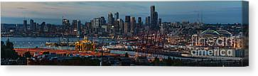 Polar Pioneer Docked In Seattle Canvas Print by Mike Reid