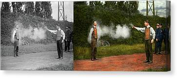 Police - A Real Dummy 1923 - Side By Side Canvas Print by Mike Savad