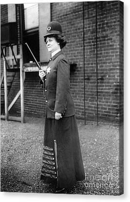 Policewoman, 1909 Canvas Print by Granger