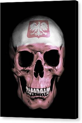 Polish Skull Canvas Print by Nicklas Gustafsson