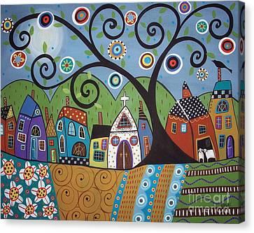 Polkadot Church Canvas Print by Karla Gerard