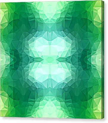 Polygon Mosaic Design Super 1 Canvas Print by Elaine Plesser