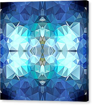 Polygon Mosaic Design Super 10 Canvas Print by Elaine Plesser