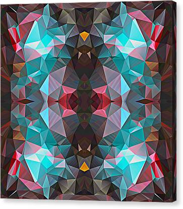 Polygon Mosaic Design Super 11 Canvas Print by Elaine Plesser