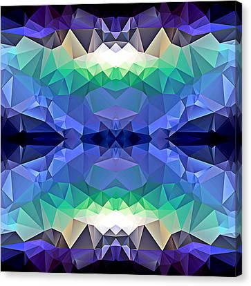 Polygon Mosaic Design Super 13 Canvas Print by Elaine Plesser