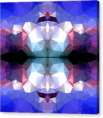 Polygon Mosaic Design Super 14 Canvas Print by Elaine Plesser