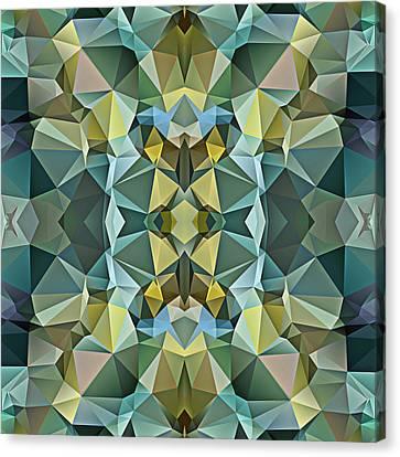 Polygon Mosaic Design Super 17 Canvas Print by Elaine Plesser