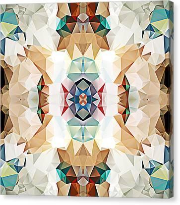 Polygon Mosaic Design Super 2 Canvas Print by Elaine Plesser