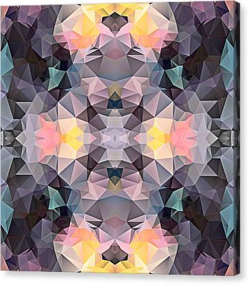Polygon Mosaic Design Super 20 Canvas Print by Elaine Plesser