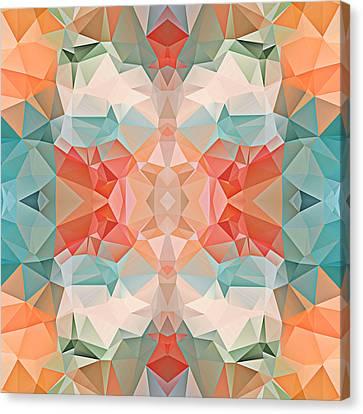 Polygon Mosaic Design Super 21 Canvas Print by Elaine Plesser
