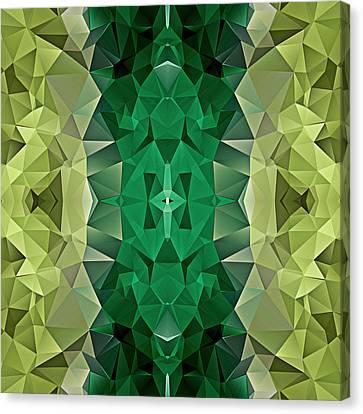 Polygon Mosaic Design Super 24 Canvas Print by Elaine Plesser
