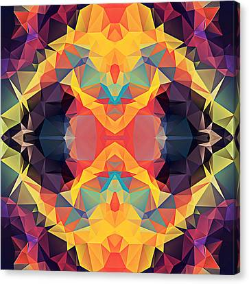 Polygon Mosaic Design Super 25 Canvas Print by Elaine Plesser
