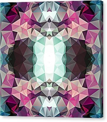 Polygon Mosaic Design Super 3 Canvas Print by Elaine Plesser