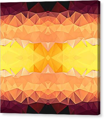 Polygon Mosaic Design Super 4 Canvas Print by Elaine Plesser