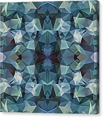 Polygon Mosaic Design Super 5 Canvas Print by Elaine Plesser