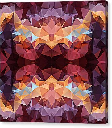 Polygon Mosaic Design Super 6 Canvas Print by Elaine Plesser