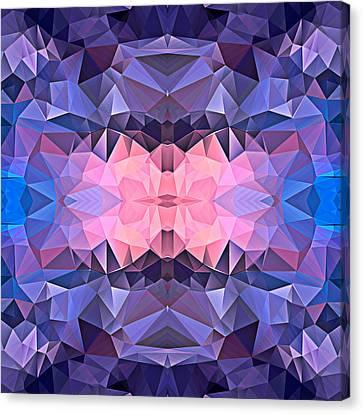 Polygon Mosaic Design Super 7 Canvas Print by Elaine Plesser