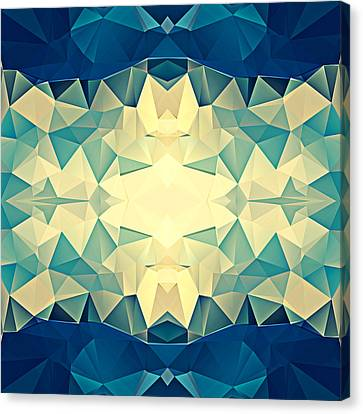Polygon Mosaic Design Super 8 Canvas Print by Elaine Plesser