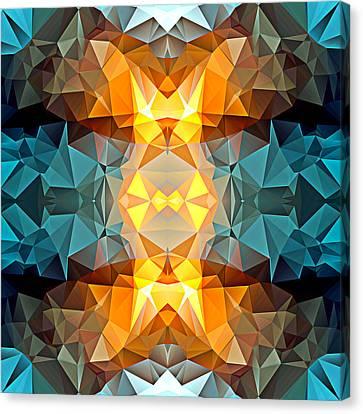 Polygon Mosaic Design Super 9 Canvas Print by Elaine Plesser