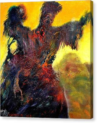 Polyphemus Hurling Boulders Canvas Print by Henryk Gorecki