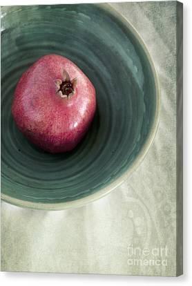 Pomegranate Canvas Print by Priska Wettstein