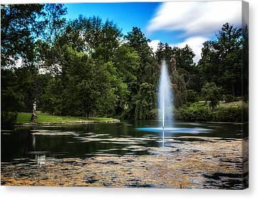Pond At Spring Grove Canvas Print by Tom Mc Nemar