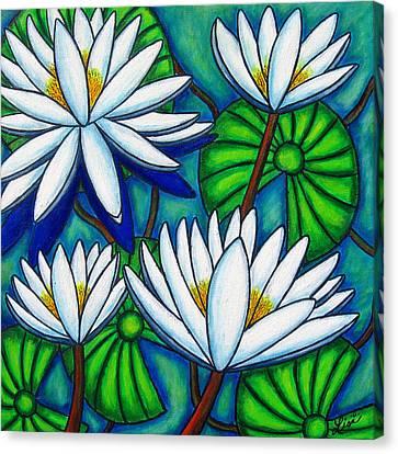 Pond Jewels Canvas Print by Lisa  Lorenz