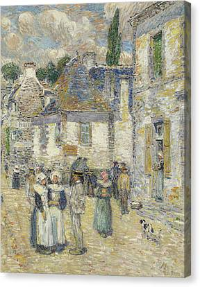 Pont-aven Canvas Print by Childe Hassam