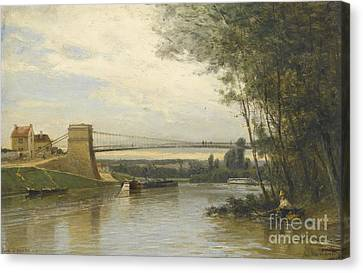 Pont D'auvers-sur-oise Canvas Print by Celestial Images