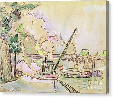 Pont Du Louvre Canvas Print by Paul Signac