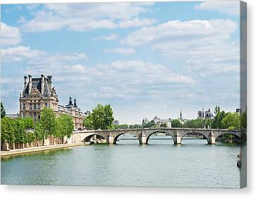 Pont Royal In Paris Canvas Print by Anastasy Yarmolovich