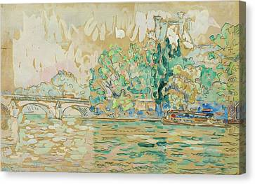 Pont Royal Canvas Print by MotionAge Designs