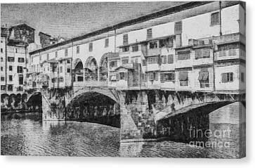 Ponte Vecchio Canvas Print by Edward Fielding